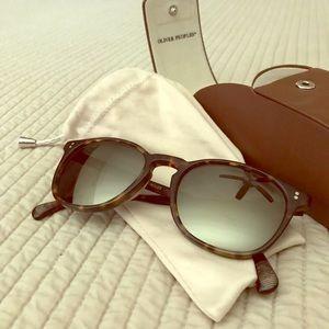 Oliver Peoples Tortoise Polarized Sunglasses